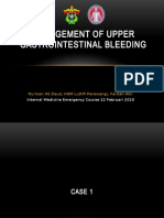 Management of Upper Gastrointestinal Bleeding
