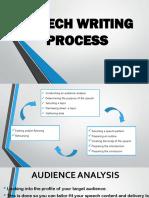 Speech Writing Process