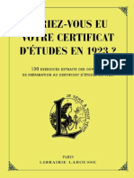 Auriez-Vous Eu Votre Certificat d'Etudes en 1923 - Collectif