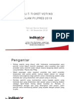 Rilis Indikator Split Ticket Voting Surnas 230119