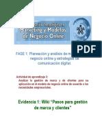 Evidencia 1 Wiki Pasos Para Gestión de Marca y Clientes