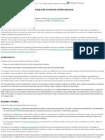 Etiología, Clasificación y Epidemiología Del Accidente Cerebrovascular - UpToDate