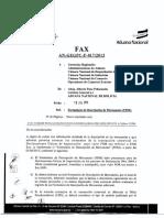 FAX instructivo aduana nacional