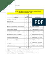 Modelo de Cronograma para la Gestion de Proyectos