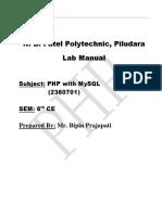 Php Lab Manual