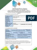 Guía de Actividades y Rúbrica de Evaluación - Fase 1 - Objetivos de Desarrollo Del Milenio