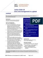Business and Management in a Global Context (MN1178)