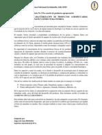 Laboratorio 1 Clasificación y Caracterización de Productos Agropecuarios, Segun La Forma, Tamaño y Estructura-1