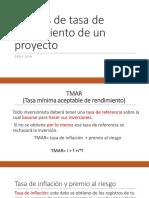 Análisis de Tasa de Rendimiento de Un Proyecto
