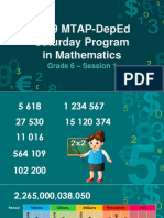 2019 MTAP-DepEd Saturday Program in Mathematics Grade 6 Session 1