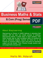 B.com Prog - Sem III - Business Mathematics and Statistics
