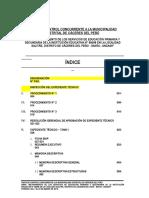 Indice - Archivo de Ejecución - Tomo I