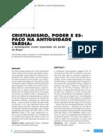 Cristianismo, Poder e Espaço Na Antiguidade Tardia
