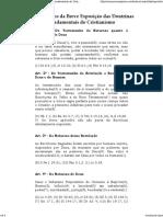 Os 28 Artigos Da Breve Exposição Das Doutrinas Fundamentais Do Cristianismo