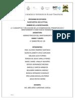 CONCEPTOS Y APLICACIÓN DE LA CONSERVACIÓN, PRESERVACION Y MANTENIMIENTO COMO NUEVA TENDENCIA