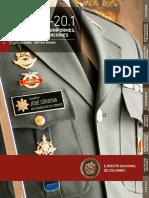 Reglamento de Uniformes Insignias y Distinciones del Ejército Nacional de Colombia