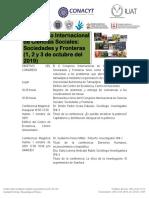 Programa CONGRESO-Internacional de Ciencias Sociales Sociedades y Fronteras