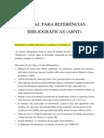 ABNT - Referências e Citações