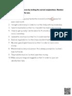Latihan Soal Bahasa Inggris Conjunctions