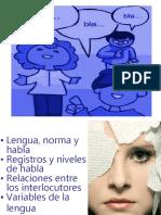 Ppt Lengua, Norma y Habla