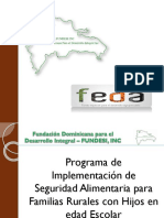 Programa de Implementación de Seguridad Alimentaria para Familias Rurales con Hijos en edad Escolar