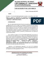 Resolucion de Aprovacion de Expediente Tecnico Los Pueblo Libre