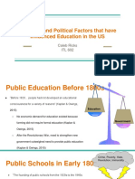 pp historical and political factors that have influenced education in the us
