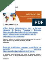 Página Inicial UNILA — Universidade Federal Da Integração Latino-Americana