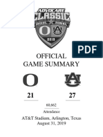 Final Complete GAME BOOK from Auburn-Oregon