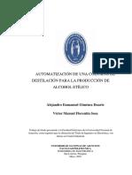 Automatizacion de Planta Destiladora Para La Produccion de Alcohol Etílico