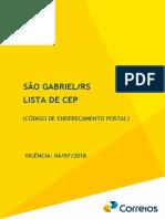 Guia Local Correios - São Gabriel RS