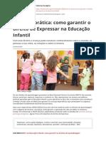 Bncc Na Pratica Como Garantir o Direito de Expressar Na Educacao Infantilpdf
