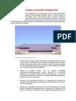 Energía Limpia y Renovable - Energía Solar