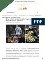 Dieta Vegetariana y Vegana Para Deportistas