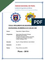 Trabajo de Seguridad d.s. Art 239-291