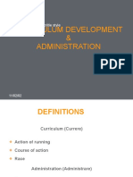 Curriculum Development Administration