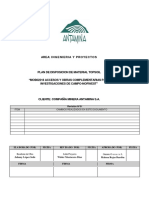 Plan de Dispocion de Material Top Soil