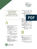 Ficha Tecnica de Pruebas Del Laboratorio de Psiologia (1)