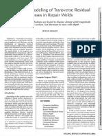 Computer Modeling of Transverse Residual Stress in Repair Weld - R. H. LEGGATT - WJ_1991_11_s299