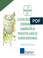 Cultivo, recolección, conservación y elaboración de productos a base de plantas medicinales