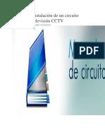 Manual de Instalación de Un Circuito Cerrado de Televisión CCTV