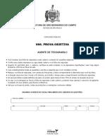 Vunesp 2018 Prefeitura de Sao Bernardo Do Campo Sp Agente de Tesouraria i Prova