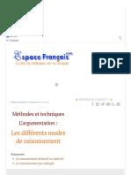 Les Différents Modes de Raisonnement - EspaceFrancais.com