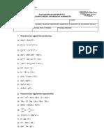 4 Medio Diferencial Prueba Ec Literales Factorizacion y Productos Notablee