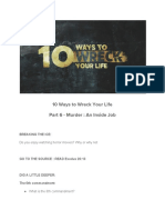 10 Ways to Wreck Your Life Pt 6 Murder