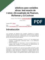 Test Estadísticos Para Variables Cualitativas