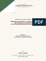 Variables personales y contextuales que afectan a la eficacia de la reexperimentación emocional