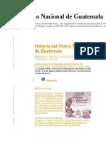 Historia Del Himno Nacional de Guatemala