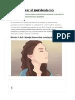 Cómo Curar El Nerviosismo (Incompleto)