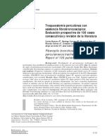 Traqueostomía percutánea con asistencia fibrobroncoscópica